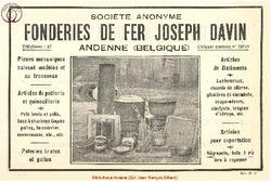 Publicité Davin Joseph