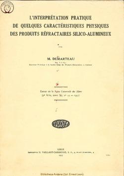 Caractéristiques des produits référactaires