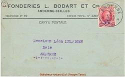 Enveloppe Bodart 1928