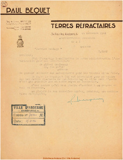 Facture Bequet 1942