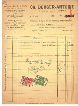 Facture Berger 1939