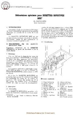 Réfractaires spéciaux pour busette rotative