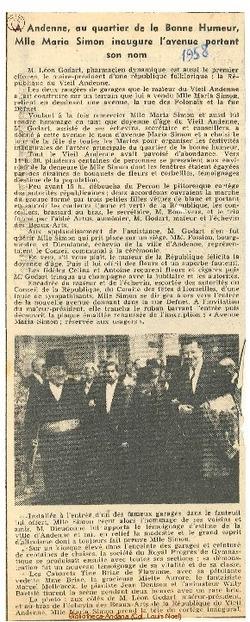 1958 A Andenne, au quartier de la Bonne Humeur ...