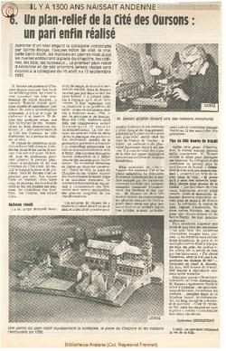 6. Un plan-relief de la Cité des Oursons: un pari enfin réalisé.
