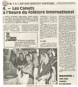4. Les Canuts à l'heure du folklore internationale.