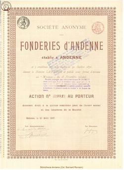 Société Anonyme des Fonderies d'Andenne.