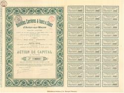 Société Anonyme Nouvelles Carrières & Fours à Chaux d'Anton-sur-Meuse.