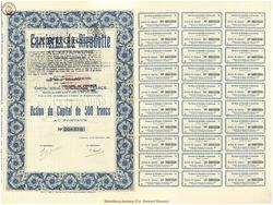 Société Anonyme Carrières Rieudotte et Extensions.