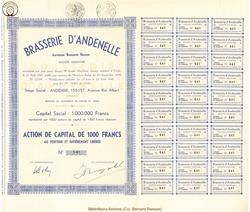 Société Anonyme Brasserie d'Andenelle ancienne Brasserie Husson.