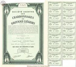 Société Anonyme des Charbonnages de Groynne-Liégeois.