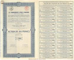 Société Anonyme Les Charbonnages réunis d'Andenne.
