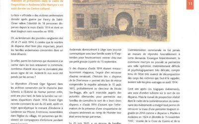 "Août 1914 Les disparus de la ""Chartreuse"""