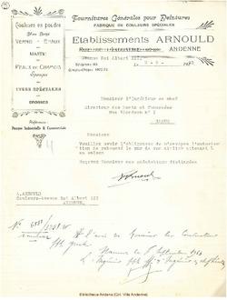 Facture Arnould 1933