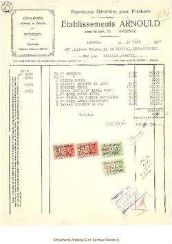 Facture Arnould 1936