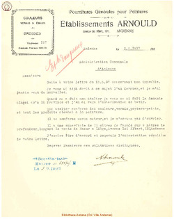 Facture Arnould 1937