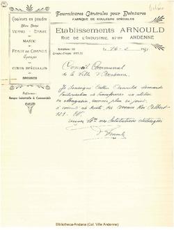 Facture Arnould 1931