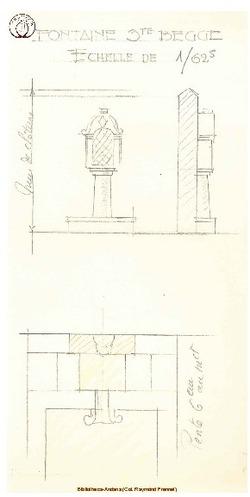Croquis de la Fontaine Ste Begge