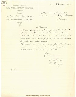 Facture Bon Pain 1932
