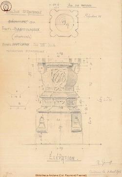 Fonts Baptismaux (Relevé Garant 09/08/1916)