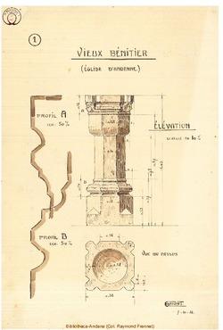 Bénitier (Relevé Garant 7/10/1916)
