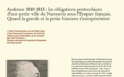 Andenne 1810-1813: les obligations protocolaires d'une petite ville du Namurois sous l'Empire français