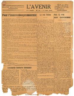 L'Avenir 1944-05-01 N°13