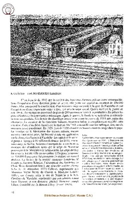 Namèche - Les Fonderies Samson
