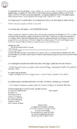 Description des registres
