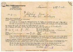 Convocation du 17 août 1943