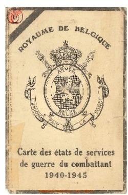 Carte du Combattant 1940 - 1945