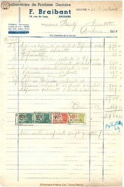 Facture Braibant F. 1948