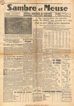 Sambre & Meuse Février 1946