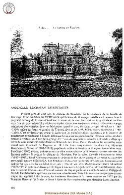 Histoire du château de Rieudotte