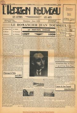 Le romancier Jean Tousseul