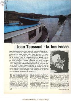 Jean Tousseul (1) La Tendresse