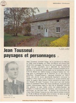 Jean Tousseul (2) Paysages et personnages