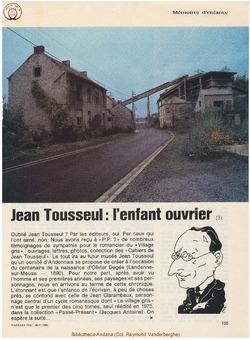 Jean Tousseul (3) L'enfant ouvrier