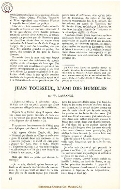 Jean Tousseul, l'ami des humbles
