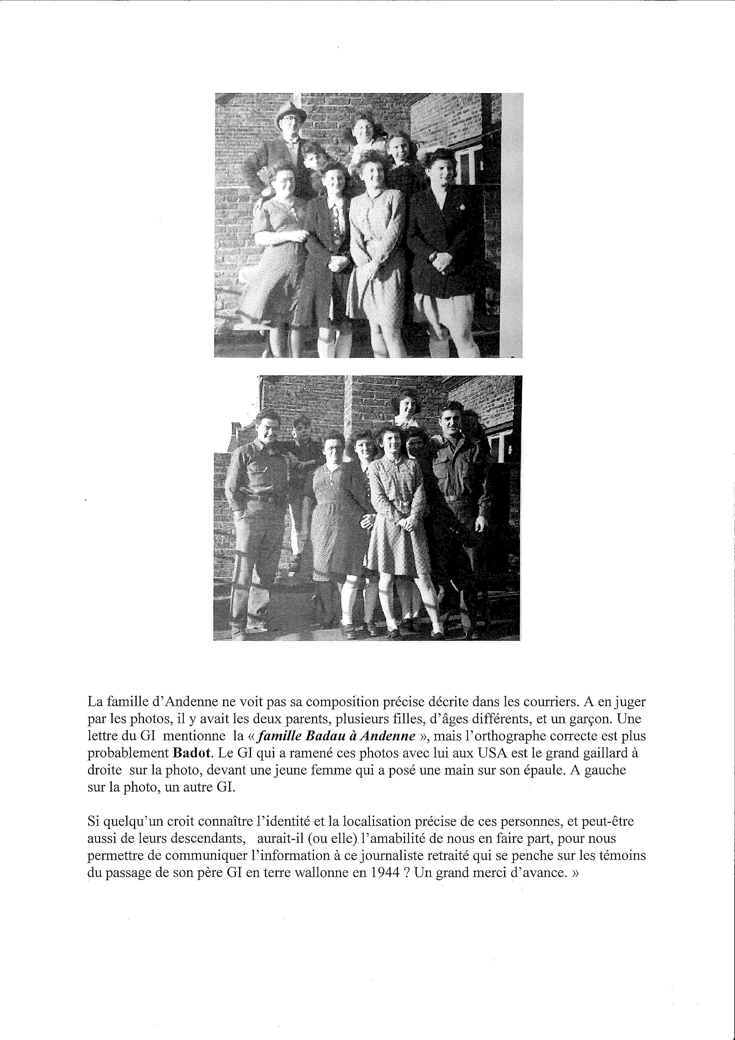 Le fils d'un GI recherche deux familles, à Liège et à Andenne