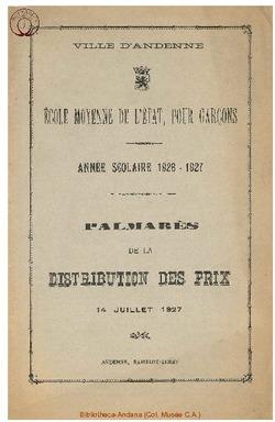 Palmarès 1926 - 1927
