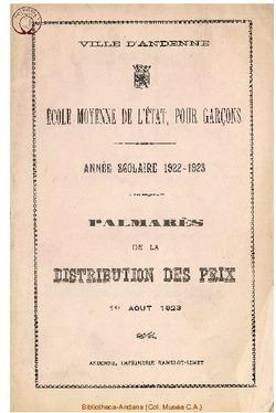 Palmarès 1922 - 1923