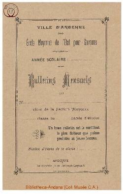 Bulletin 1899 1900