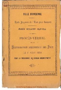 Palmarès 1898 - 1899