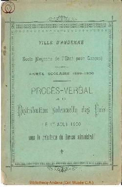 Palmarès 1899 - 1900