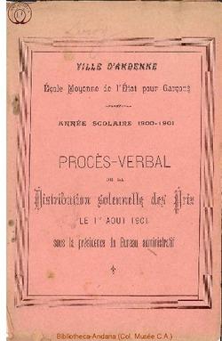 Palmarès 1900 - 1901