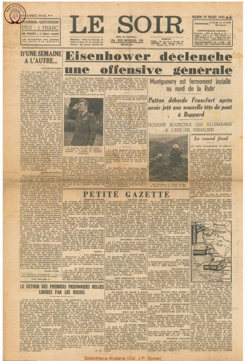 1945-03-27 Le Soir