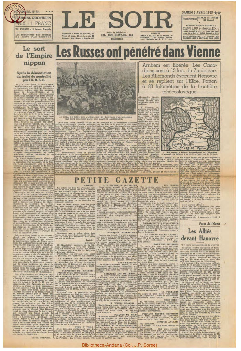 1945-04-07 Le Soir