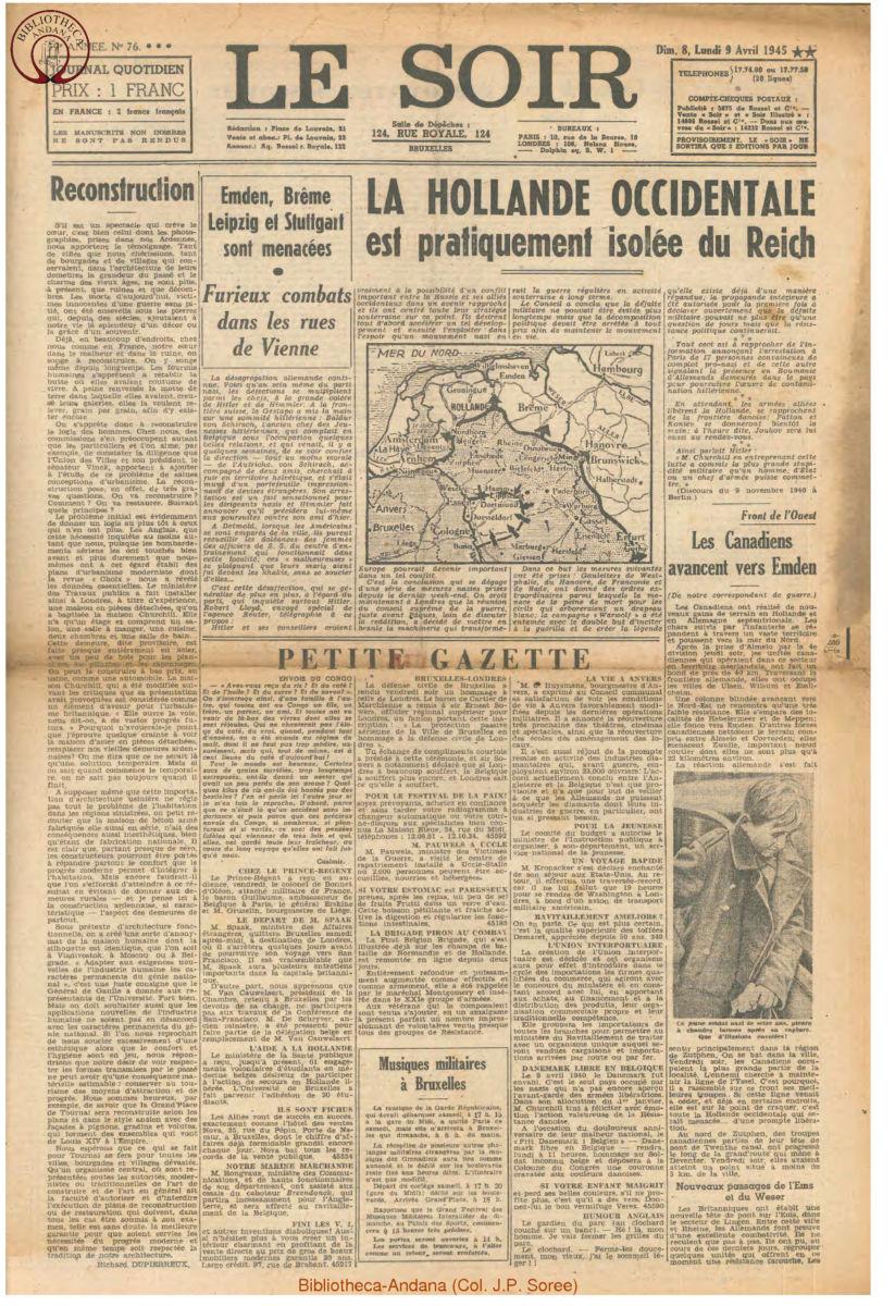 1945-04-09 Le Soir