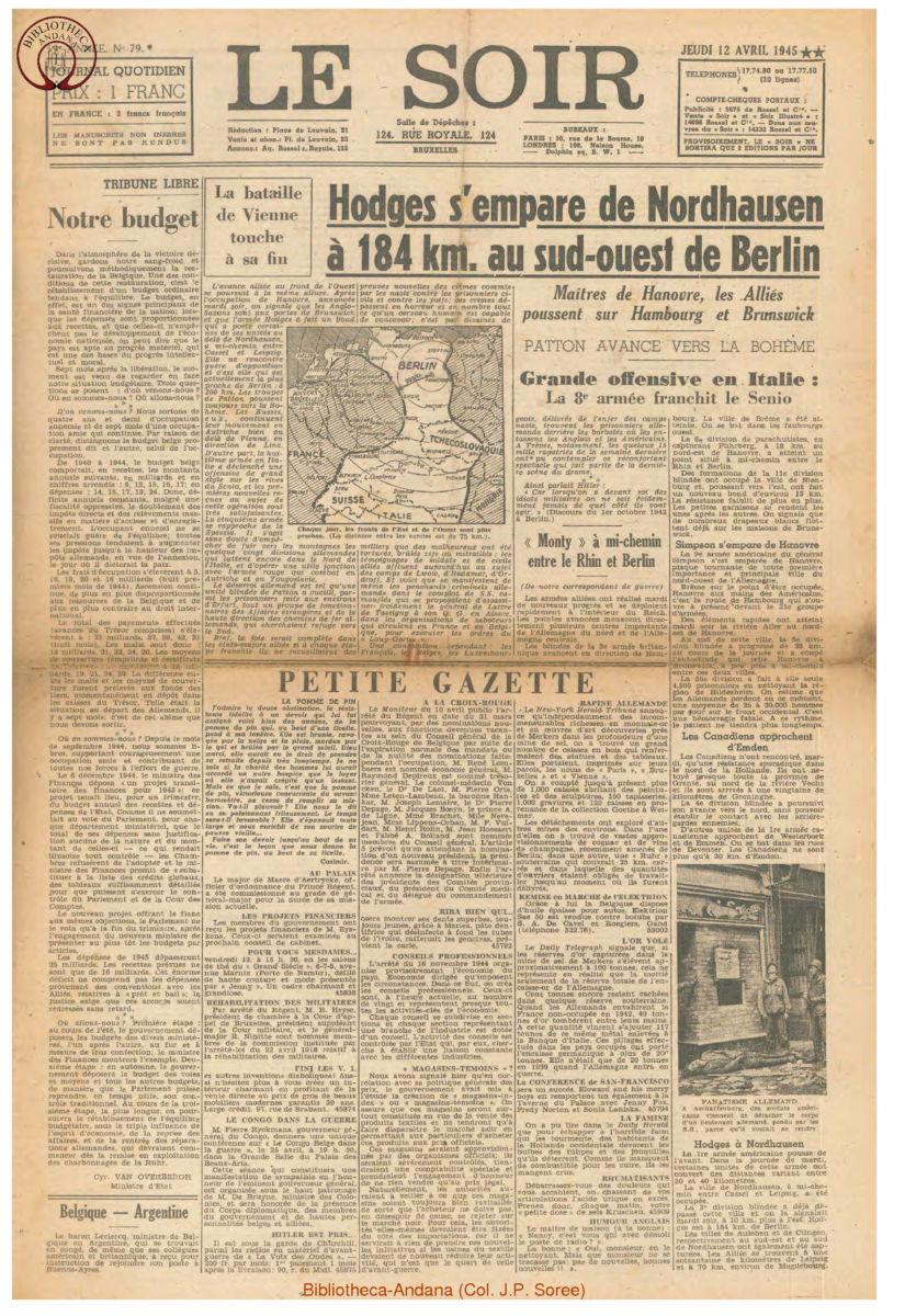 1945-04-12 Le Soir