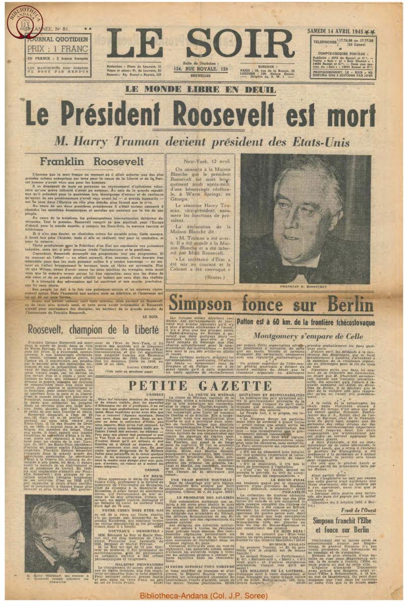 1945-04-14 Le Soir